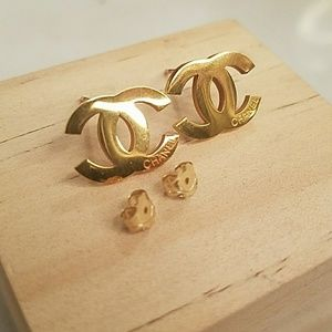 Authentic CHANEL 14k plated